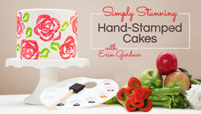 Simply Stunning: Hand-Stamped Cakes