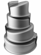 Topsy Turvy Wedding Cake Tin Set 4pcs