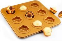 Animals Pets Cake Tin Anodised Aluminum Cat Paw Cake Pan 9-in-11