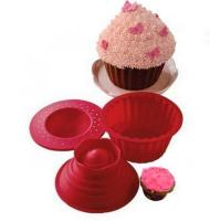 Silicone Giant Cupcake Mould Set1