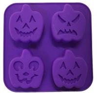 Silicone Halloween Pumpkin Muffin Mould 4-in-11