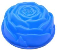 9 in Bundt Cake Tin Rose Flower Silicone Fluted Tube Cake Pan1