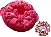 Christmas Wreath with Bow Silicone Cake Pan 1511A1