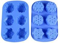 Christmas Winter Muffin Pan Snowflake Silicone Mould 6-in-1 15111