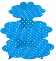 Blue Polka Dots 3 Tier Cupcake Stand1