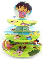 Cartoon Dora 3 Tier Cupcake Stand1