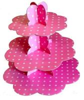 Pink Polka Dots 3 Tier Cupcake Stand1