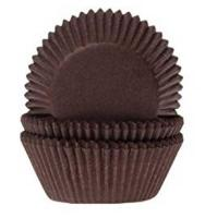 100 Dark Brown Cupcake Cases1