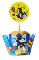 12 Tom Jerry Cupcake Wrappers1