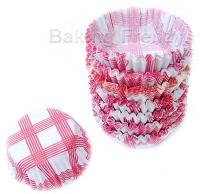 200 Red Gingham Petit Case cupcake cases muffin cups1
