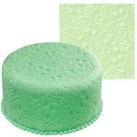 Graceful Vines Pattern Fondant Embosser Silicone Impression Mat1