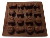 Christmas Chocolate Silicone Mould 16-in-11