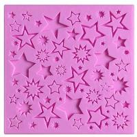 Christmas Multiple Star Silicone Mould 13-in-1 1510C1