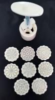 Mid-Autumn Traditional Chinese Floral Mooncake Cookie Press 8-in-1 26081