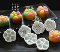 50g Mid-Autumn Traditional Blossom Flower Shape Mooncake Cookie Press 6-in-11