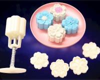50g Blossom Flower Mooncake Mould Cookie Press 4 in 11