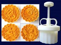 150g Mid-Autumn Dragon Phoenix Koi Fish Pond Chrysanthemum Mooncake 4 in 11