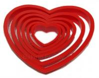 Wedding Valentine multi size heart shape cookie cutter set 6 pcs1