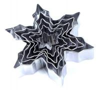 Xmas Stainless Steel Snowflake Cutter Set of 51