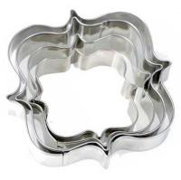 S/S Wedding Birthday Cookie Cutter Square Plaque Cutter set 4 pcs1