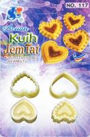 CNY EID Traditional Heart Shape Jam Tart Cookie Cutter 1601b1