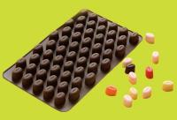 Mini Coffee Beans Silicone Chocolate Candy Mold 55 Cavities1