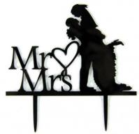 TXCT014 Acrylic Wedding Cake Topper1