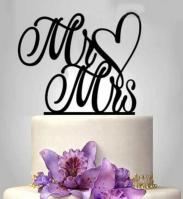 TXCT182 Acrylic Wedding Cake Topper1
