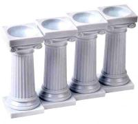 3 in Wedding Grecian Cake Pillar Set 4 pcs1