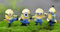 Cartoon Minion Figurine 4 in 11