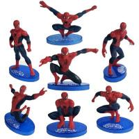 Superhero Spiderman 7 Pieces Cake Topper Decoration1