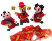 CNY Doll Prosperity God Ang Pow Figurine  13 in 11