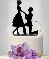 No3 Acrylic Engagement wedding Cake Topper1