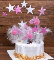 Peppa Pig and Stars Cake Topper1