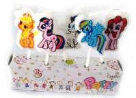 Party Time My Little Pony Birthday Candle Set1