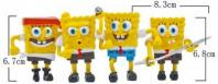 Cartoon SpongeBob Figurine 4 in11