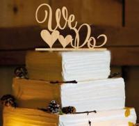 TXCTC124 Wooden Engagment We do Cake Topper1