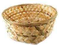 CNY 18cm Open Weave Round Bamboo Basket Steamed Cake1