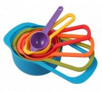 Multi-Coloured Measuring Cup and Spoon Set 6 in 11