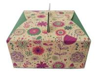 5 pcs per Green Floral Cookie Cake Box1