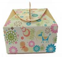 5 pcs per Yellow Floral Mooncake Cookie Cake Box Set1