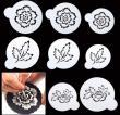 8 in 1 Peony Flower Wedding Cake Cookie Stencil1
