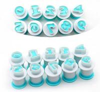 Push Easy Plastic Number Plunger Cutter Set1