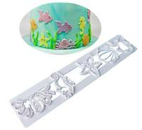 Beach Theme Under The Sea Motifs Tappit Cutter Wedding Cake1
