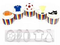 SPORTY TAPPIT CUTTER RUGBY SOCCER OR FOOTBALL THEMES1