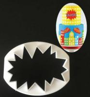 Comic Superhero Pow Sign Cookie Cutter1