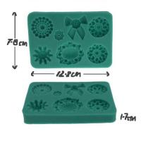 Decorative Vintage Bead Brooch or Gem Silicone Mould 7-in-11