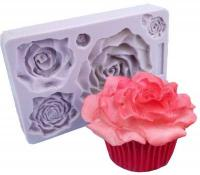 Spring 5 Rose Fondant Flower Silicone Mould 1605B1