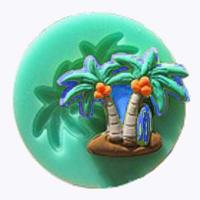Beach Theme Palm Tree Silicone Mould1