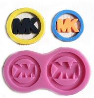 Fashion Michael Kors logo charm silicone mould 2-in-11